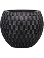 Кашпо Capi nature vase eggplanter ii wave black D12 H9 см 6CAPNV586