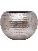 Кашпо Opus hammered globe silver (with liner) D60 H43 см 6OPSC64HS