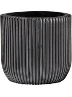 Кашпо Capi nature egg planter groove iii black D15 H14 см 6CAPGZ132