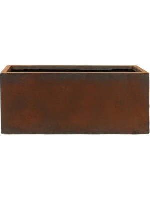Кашпо Static (grc) rectangle rusty L120 W37 H48 см 6STA37935